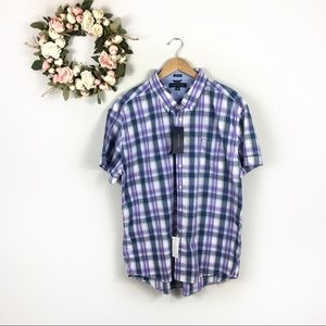 NWT Tommy Hilfiger Short Sleeve Button Down